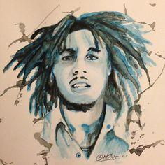 Watercolor Marley (#BobMarley)