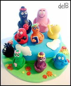 Voorbeeld taart: Barbapapa's