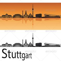 Stuttgart Skyline in Orange Background  #GraphicRiver         Stuttgart skyline in orange background in editable vector file     Created: 1May13 GraphicsFilesIncluded: LayeredPNG #JPGImage #VectorEPS Layered: Yes MinimumAdobeCSVersion: CS Tags: architecture #backgrounds #black #building #city #cityscape #destination #downtown #europe #germany #horizon #illustration #isolated #landmark #landscape #metropolis #orange #outline #panorama #place #reflected #silhouette #skyline #skyscraper…