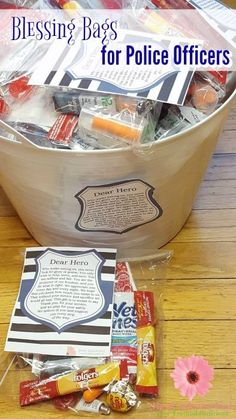 Do you support law enforcement? Show them you care with these blessing bags for police officers AD