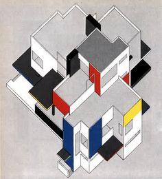 GEPLAND: Gerrit Rietveld, Theo van Doesburg, Piet Mondriaan, Jan Wils