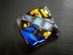 Cabuchones de vidrio fundido dicroico Patchwork por WillowGlass