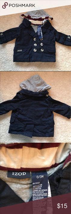 Baby Izod jacket. New baby Izod jacket. Dark blue. 100% cotton. Izod Jackets & Coats Pea Coats