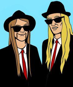 Blues Brothers Toki and Skwisgaar - Dethklok Metalocalypse