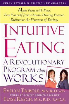 Intuitive Eating 3rd edition is Released!  We are very excited about the release of our new edition of Intuitive Eating, which includes updates and expansions throughout.  There are two brand new chapters-- Raising and Intuitive Eater: What Works with Kids and Teens and the other new chapter describes the incredible science behind Intuitive Eating (there are over 25 studies to date!).  The official release date is August 7, 2012 and it can be pre-ordered on Amazon.com.