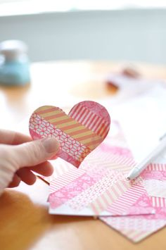 simple washi tape hearts #washitape