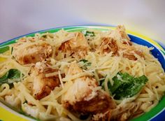 Lemon Angel Hair Pasta with Chicken and Spinach