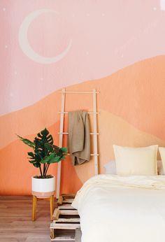 Bohemian Wallpaper, Trendy Wallpaper, Retro Wallpaper, My New Room, My Room, Bedroom Murals, Bedroom Wallpaper, Bedroom Ideas, Nursery Wall Murals