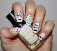 """Dan and phil"" nail art - Google Search"