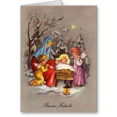 24 best italian christmas cards greetings images on pinterest retro italian christmas nativity greeting card m4hsunfo