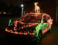 How To String Car Christmas Lights On Your Vehicle For The Holidays.
