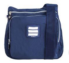 "Suvelle  - Suvelle City Bag Crinkle Nylon Water-Resistant Practical Crossbody Bag, Handbag  . RRP: $89.99 (You save $64.00) $25.99   .Suvelle City Bag Crinkle Nylon Water-Resistant Practical Crossbody Bag, Handbag # 9288 .Approximate Dimensions: 9 ½"" W, 9"" H, 3"" D, Strap is 59"" long"