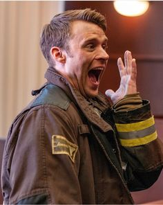 Casey doing... I don't know what he's doing, but I love it Chicago Fire