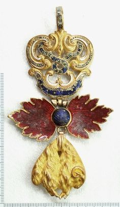 Order of the Golden Fleece (Spanish) - Insignia belonged to Dom Pedro I Emperor of Brazil. He was buried with it.