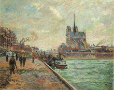 Armand GUILLAUMIN: LES QUAIS DE LA SEINE A PARIS (ANALYSE DU TABLEAU).