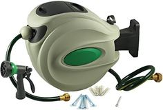 ikris Retractable Garden Water Hose Reel  50 Foot Hose * More info could be found at the image url-affiliate link.