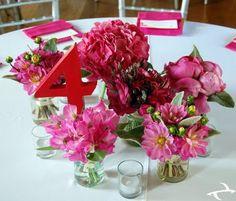 centerpieces diy pink wedding