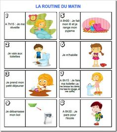 Routine enfant - matin Additionally, I am your well known standard knowledge educator exactly who French Teacher, Teaching French, Autism Education, French Lessons, Learn French, Kids And Parenting, Teaching Kids, Montessori, Activities For Kids