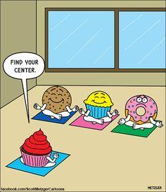 Today on The Bent Pinky - Comics by Scott Metzger Funny Puns, Funny Cartoons, Funny Comics, Haha Funny, Hilarious, Funny Humor, Daily Cartoons, Funny Stuff, Yoga Humor