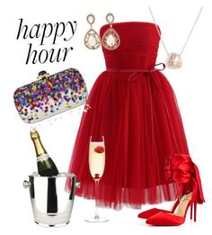 """""""Happy Hour"""" by aheavingham on Polyvore featuring Chicwish, Christian Louboutin, Winco, Luna Skye, LSA International and Judith Leiber"""