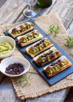 Cuinant: Tostas de Guacamole y Anchoas