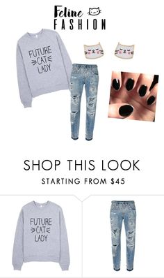 """""""felino fashion"""" by d4envy on Polyvore featuring moda, Dolce&Gabbana, Accessorize, cat y crazycatlady"""