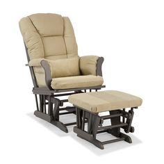 Stork Craft Tuscany Custom Glider Chair and Ottoman Set, Green