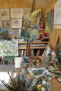 Art Hoe Aesthetic, Aesthetic Painting, Applis Photo, Art Studios, Art Inspo, Art Drawings, Artsy, Retro, Decoration