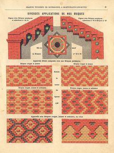 OMMX build, draw and write about architecture. Brick Architecture, Victorian Architecture, Brick Design, Floor Design, Minecraft Steampunk, Brick Detail, Brick Art, Brick Texture, Brick Fence