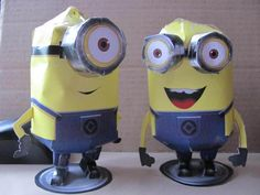 Despicable Me Minion (Paper Craft) My kids would go nuts!