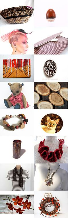 Red Meets Brown by Julia #fibernique #etsy #treasury #red #brown #black  #basket #wexfordtreasures on Etsy--Pinned with TreasuryPin.com