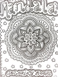 mendi coloring pages | MANDALAS Henna Style Coloring Book To Color Let it Heal and Relax You ... Mandala Designs