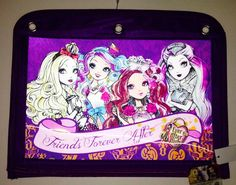 Ever After High Pencil  And School Supplies Case Attach Inside Binder NEW Pouch  back to school