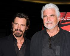 James and Josh Brolin. Father and son. Gorgeous hunk of tree and the apple that didn't fall far from it.