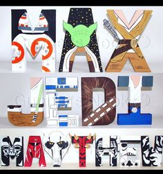 SALE Star Wars Letters Price Per Letter by GunnersNook on Etsy