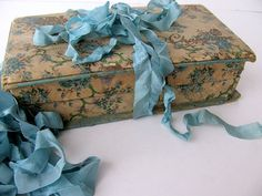 Vintage Fabric Covered Candy Box