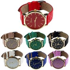 Unisex Quartz Analog Wrist Watch Casual Leather Band Watches Women Dress Watches #Unbranded #Casual