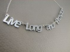 Live Long and Prosper Necklace in Silver Color Nerdy Necklace