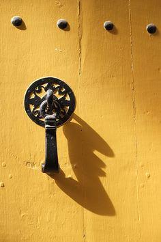 Knocker in Saint-Léonard-de-Noblat, Haute-Vienne (Limousin, France).