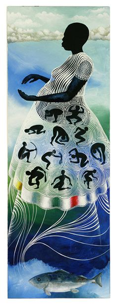 breaking water by daniel minter African Art, African American Art, Black Art, Ifa Religion, African Mythology, Goddess Art, Archetypes, Renaissance Artists, Harlem Renaissance