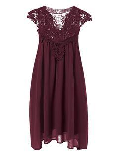 $9.93 Mini Vestido Empalmado Encaje