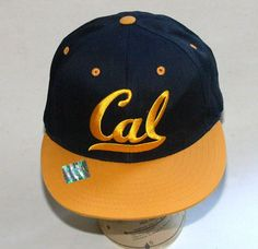 UC Berkeley Cal Bears Hat College Navy Blue & Yellow  One Size Fits All #Eclipse #BaseballCap