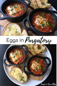Eggs in Purgatory Egg Recipes, Brunch Recipes, Breakfast Recipes, Healthy Recipes, Eggs In Purgatory, Reading Eggs, Recipe Of The Day, Curry, Easy Meals
