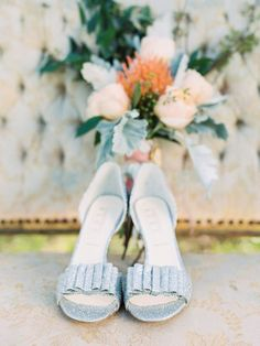 Elegant Silver Bridal Shoes | Wendy Cooper Photography on /CVBrides/