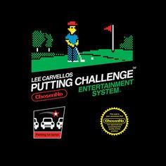 The #Simpsons: Lee #Carvellos Putting Challenge / #Nintendo: Game box mashup t-shirt.