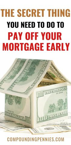 Are you looking to be mortgage free? Here are 10 secret tricks you need to pay off your mortgage early. You can be mortgage free in 7 years using these tips Paying Off Mortgage Faster, Pay Off Mortgage Early, Mortgage Companies, Mortgage Tips, Refinance Mortgage, Online Mortgage, Money Tips, Money Saving Tips, Saving Ideas