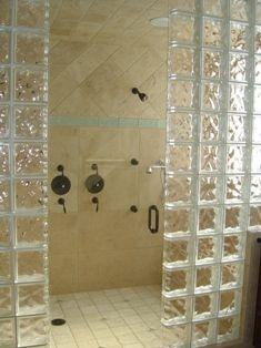 Üvegtégla zuhanyzókabinnak