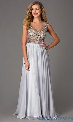 Sleeveless Floor Length Dave and Johnny Dress at SimplyDresses.com