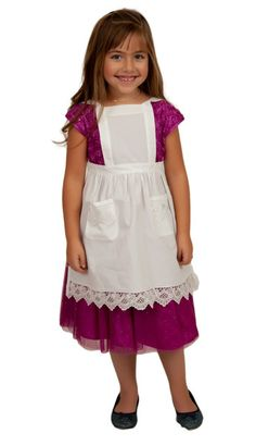 Girls Lace Ecru Full Apron (Ages 2-8) – GermanGiftOutlet.com