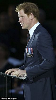 Tragic: Prince Harry read a letter from Private Michael Lennon to his brother Frank...